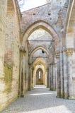 圣Galgano,托斯卡纳,意大利修道院  免版税库存图片