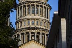 圣Gaudenzio塔,诺瓦腊,山麓,意大利 免版税库存照片