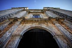 圣Gervasio主教的座位在巴里阿多里德 免版税库存照片