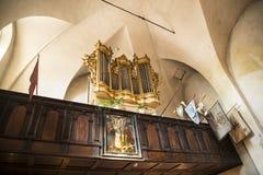 圣Giles教会的华丽内部在克拉科夫波兰 免版税库存图片