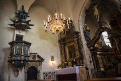 圣Giles教会的华丽内部在克拉科夫波兰 库存图片