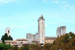 圣Gimignano著名塔在意大利 免版税库存图片