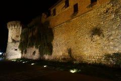 圣Gimigniano镇墙壁 免版税库存图片