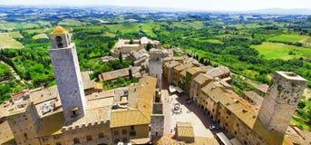 圣Gimigniano,托斯卡纳,意大利 库存图片