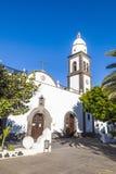 圣Ginés美丽的教会在阿雷西费,兰萨罗特岛 免版税库存图片