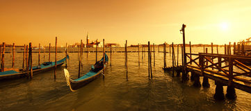 日落的圣Giorgio Maggiore海岛 免版税库存图片