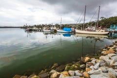 圣Helens,塔斯马尼亚岛港  免版税图库摄影