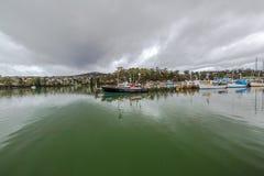 圣Helens,火海湾全景港  免版税库存图片
