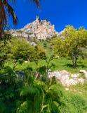 圣Hilarion城堡看法在凯里尼亚8附近的 免版税库存照片