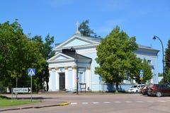 圣Ioann路德教会  19座钟楼c教会芬兰hamina保罗・彼得st 免版税库存照片