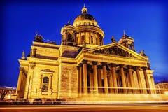 圣Isaac& x27冬天视图; s大教堂在圣彼德堡冬天vi 免版税图库摄影