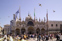 圣Marco位置和共和国总督` s宫殿, 库存照片
