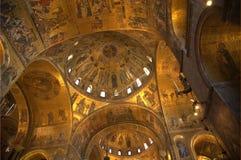 圣Marco大教堂的最高限额在威尼斯 免版税库存图片
