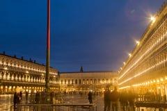 圣Marco威尼斯夜 库存图片