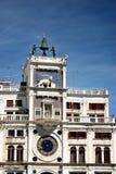 圣Marco广场钟楼在威尼斯 免版税库存照片