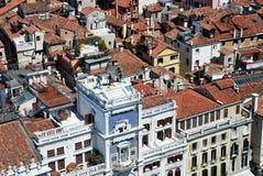 圣Marco广场钟楼在威尼斯 库存图片