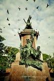 圣MartÃn雕象在布宜诺斯艾利斯 免版税库存照片