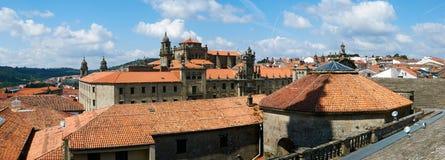 圣Martiño Pinario修道院是孔波斯特拉的圣地牙哥, Spein 免版税库存照片