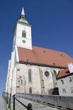 圣Martins大教堂在布拉索夫,斯洛伐克 库存图片