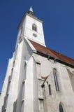 圣Martins大教堂在布拉索夫,斯洛伐克 库存照片
