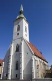 圣Martins大教堂在布拉索夫,斯洛伐克 图库摄影