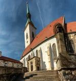 圣Martins教会在布拉索夫 免版税库存图片