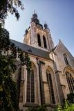 圣Martins教会,科特赖克,富兰德,比利时 免版税图库摄影