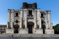 圣Nicolo l `竞技场本尼迪克特的修道院在卡塔尼亚 库存照片
