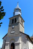 圣Pancras教会在Yvoire,法国 免版税库存图片