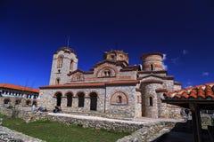 圣Panteleimon外视图在奥赫里德,马其顿 免版税图库摄影
