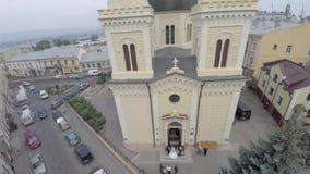 圣Paraskeva教会在切尔诺夫策 免版税库存图片