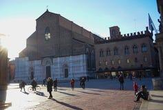 圣Petronio大教堂波隆纳 免版税图库摄影