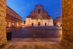 圣Petronio波隆纳,意大利大教堂  免版税库存照片