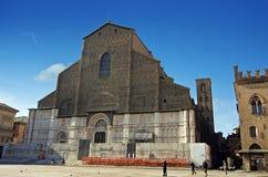 圣petronio -波隆纳看法  免版税库存图片