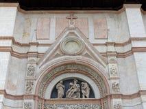 圣Petronius,波隆纳门面  库存图片