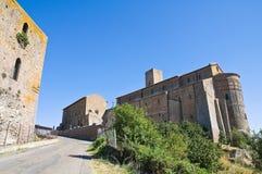 圣Pietro大教堂。 Tuscania。 拉齐奥。 意大利。 免版税库存照片