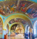 圣Pochayiv拉夫拉工作教会壁画  免版税库存图片