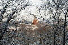 圣Radonezh Sergius寺庙  免版税图库摄影