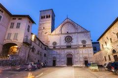 圣Rufino大教堂在阿西西 库存照片