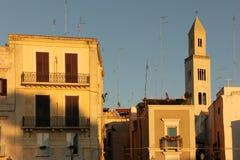 圣Sabino钟楼大教堂  驳船 普利亚或普利亚 意大利 免版税库存图片