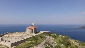 圣Sava,黑山教会,在Sveti附近Ste海岛  股票视频
