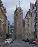 圣Sebastian教会在城市马格德堡 库存照片