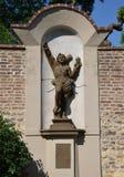 圣Sebastian雕象  免版税库存图片