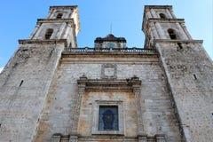 圣Servacio o Gervasio大教堂在巴里阿多里德,墨西哥 免版税图库摄影