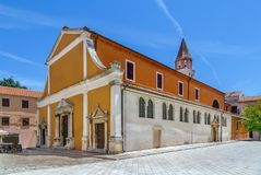 圣Sime,扎达尔,克罗地亚教会  免版税库存照片