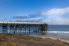 圣Simoen码头在南加州 免版税库存照片