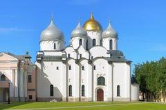 圣Sophia大教堂在Veliky Novgorod,俄国 免版税库存照片