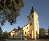 圣Stanislaus Kostka教会在Bircza 喀尔巴阡山省 波兰 库存照片