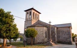 圣Tirso, Palas de Rey教会  免版税库存图片