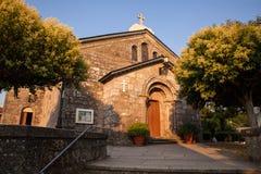 圣Tirso, Palas de Rey教会  图库摄影